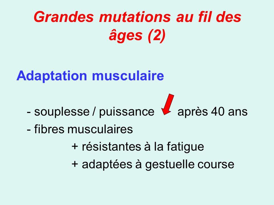 Grandes mutations au fil des âges (2)