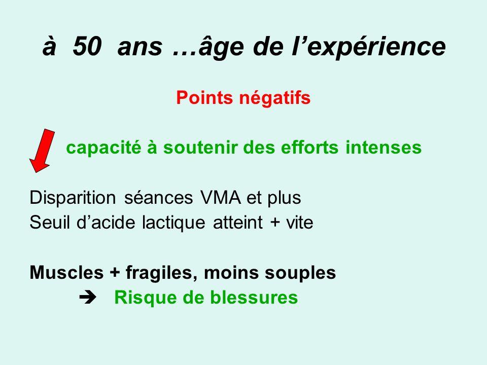 à 50 ans …âge de l'expérience