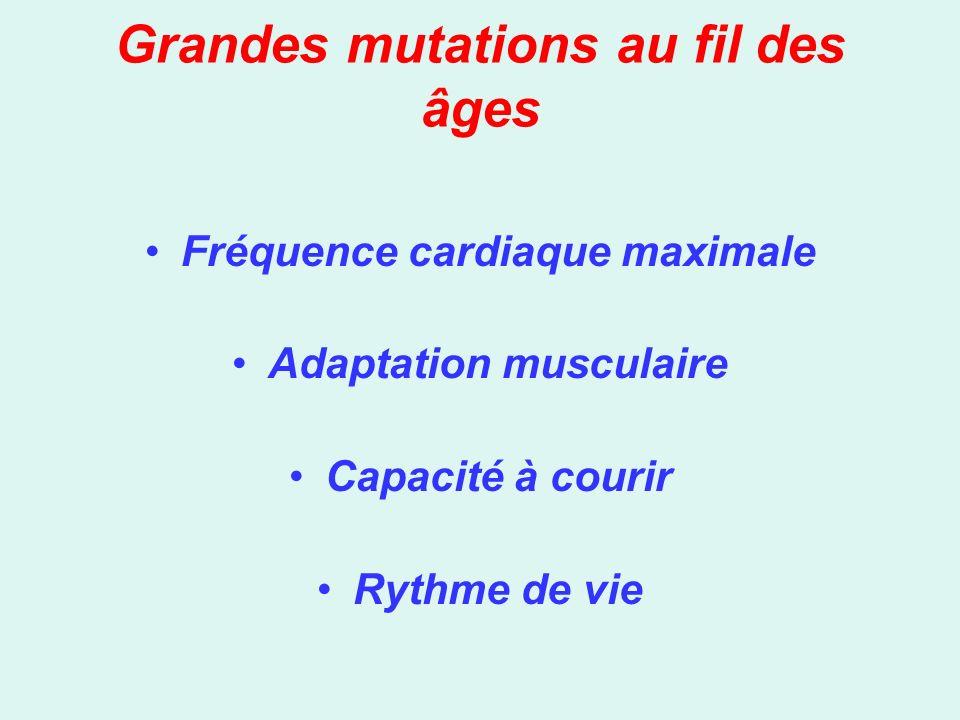 Grandes mutations au fil des âges