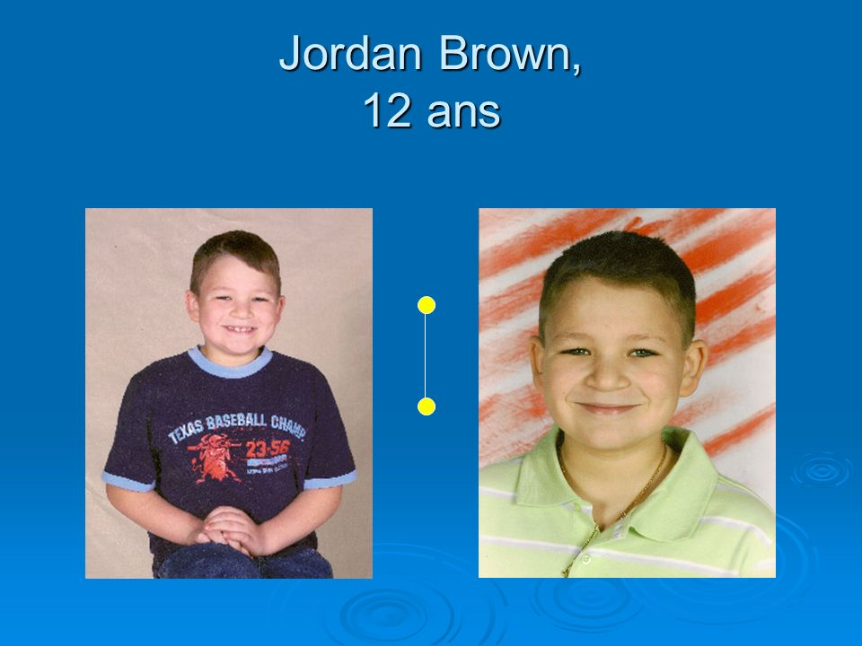 Jordan Brown, 12 ans