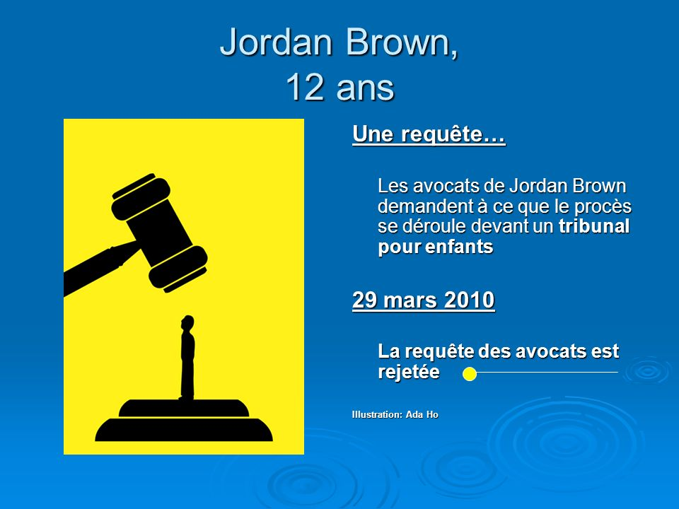 Jordan Brown, 12 ans Une requête… 29 mars 2010