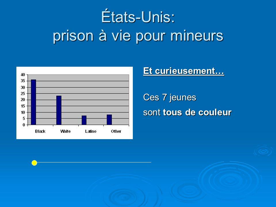 États-Unis: prison à vie pour mineurs