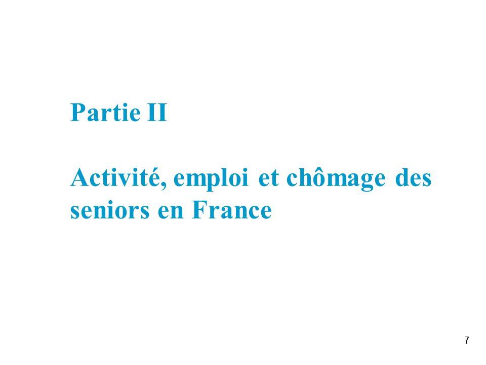 Partie II Activité, emploi et chômage des seniors en France