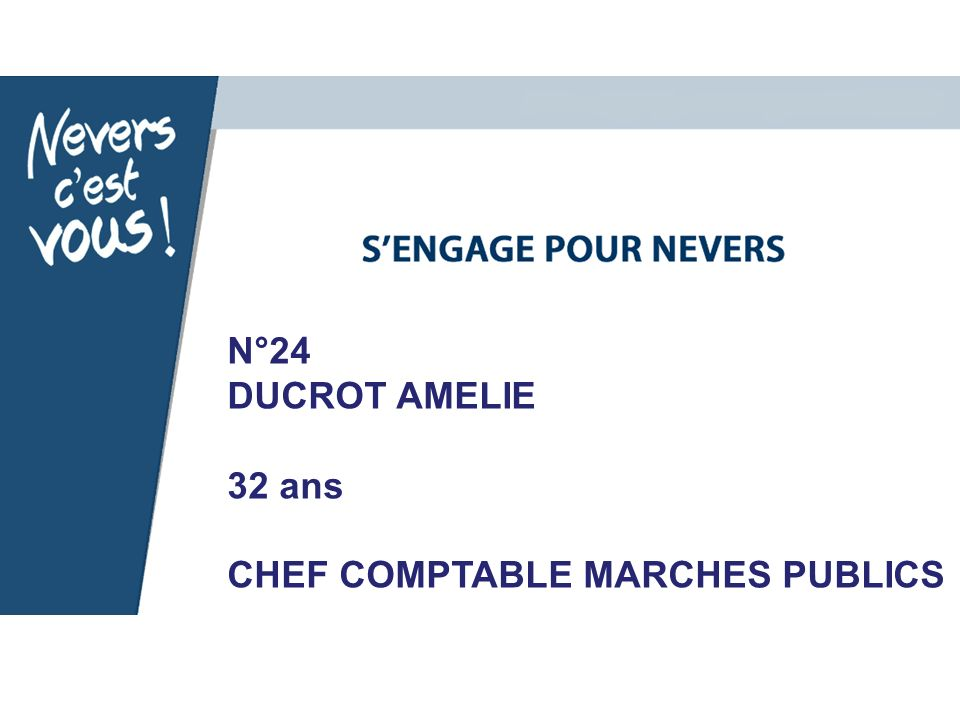 N°24 DUCROT AMELIE 32 ans CHEF COMPTABLE MARCHES PUBLICS