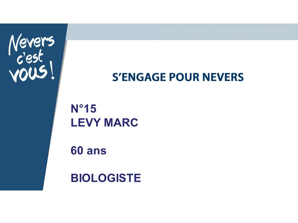 N°15 LEVY MARC 60 ans BIOLOGISTE