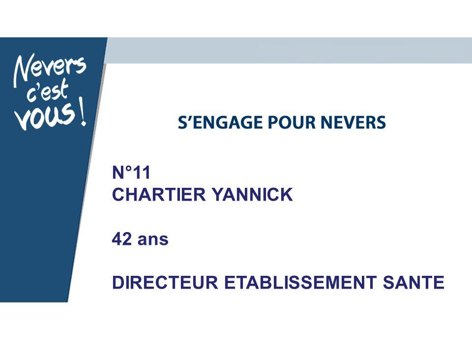 N°11 CHARTIER YANNICK 42 ans DIRECTEUR ETABLISSEMENT SANTE