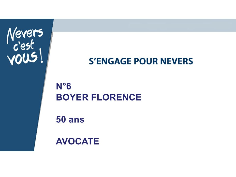 N°6 BOYER FLORENCE 50 ans AVOCATE