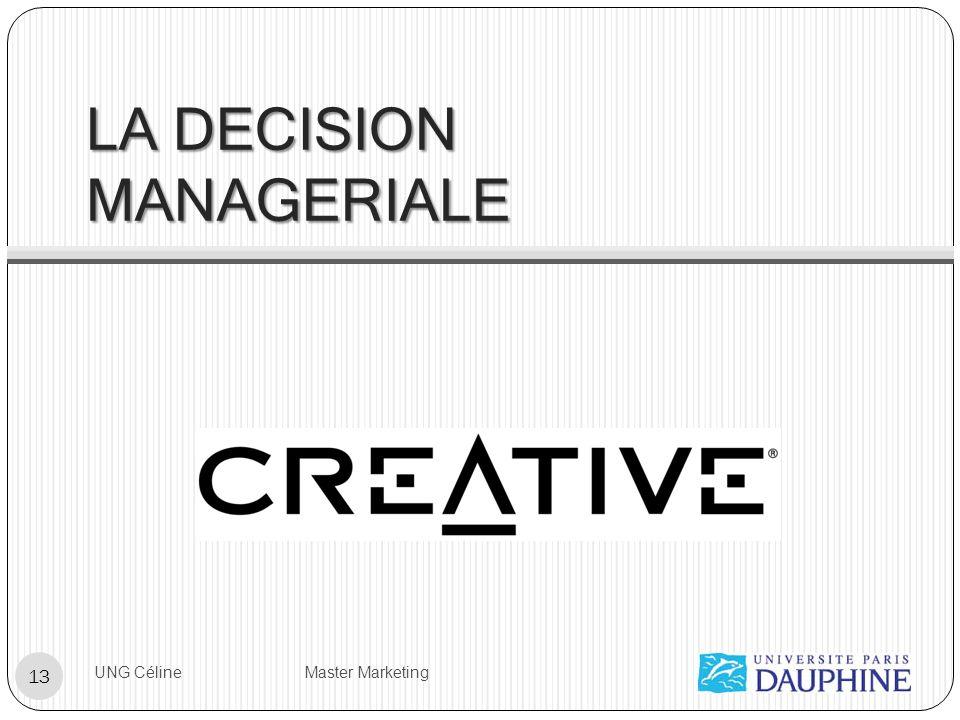 LA DECISION MANAGERIALE