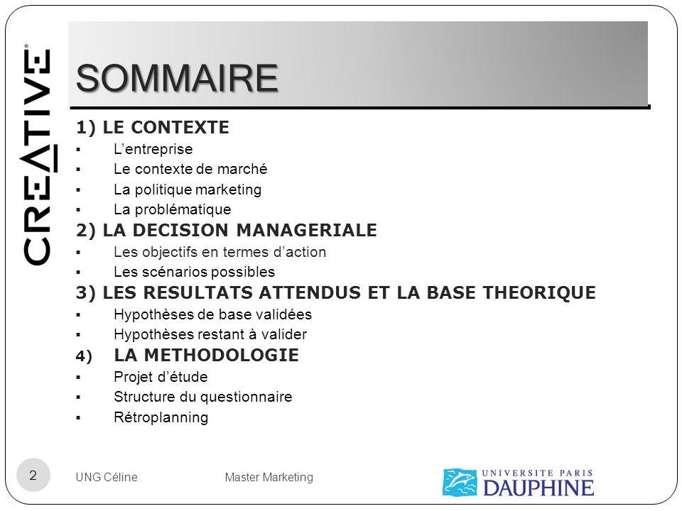 SOMMAIRE 1) LE CONTEXTE 2) LA DECISION MANAGERIALE