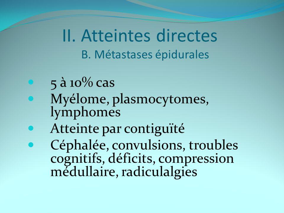 II. Atteintes directes B. Métastases épidurales