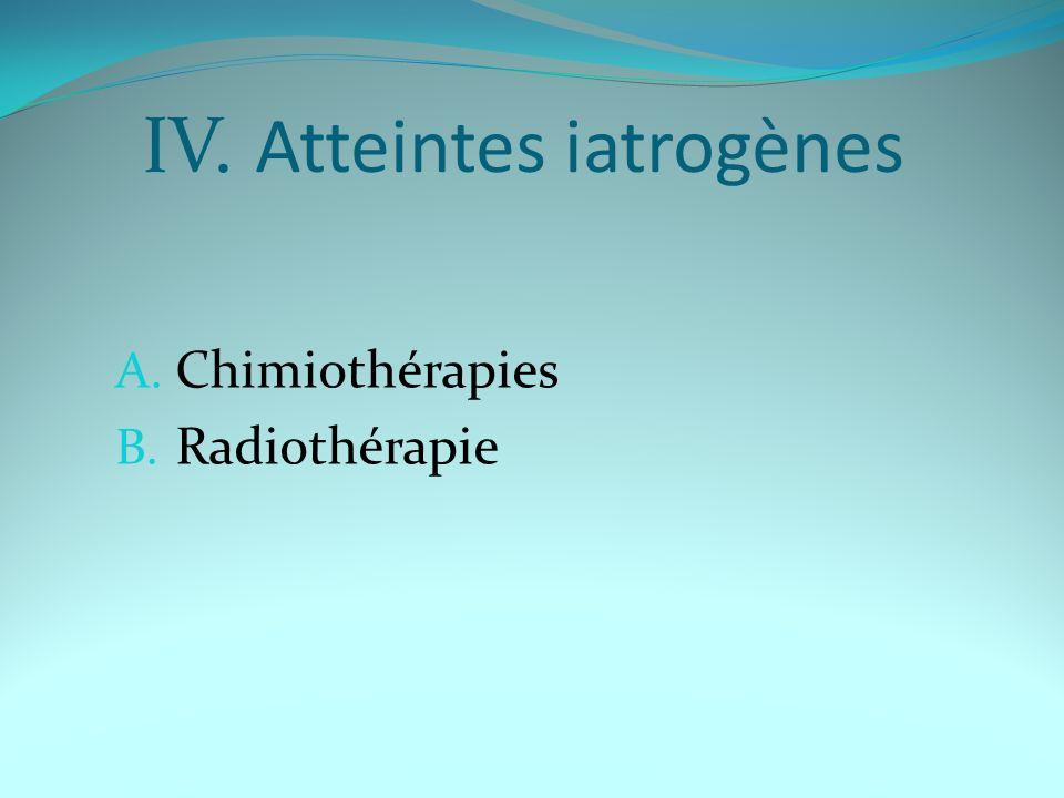 IV. Atteintes iatrogènes