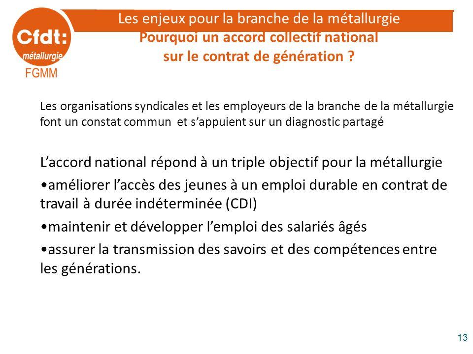 L'accord national répond à un triple objectif pour la métallurgie