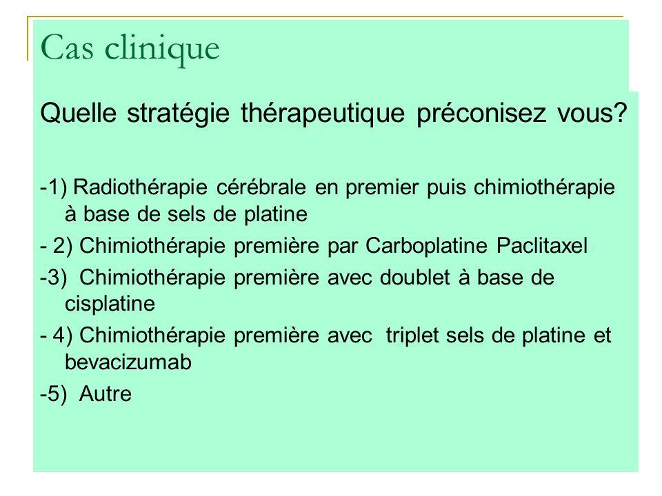Cas clinique Quelle stratégie thérapeutique préconisez vous