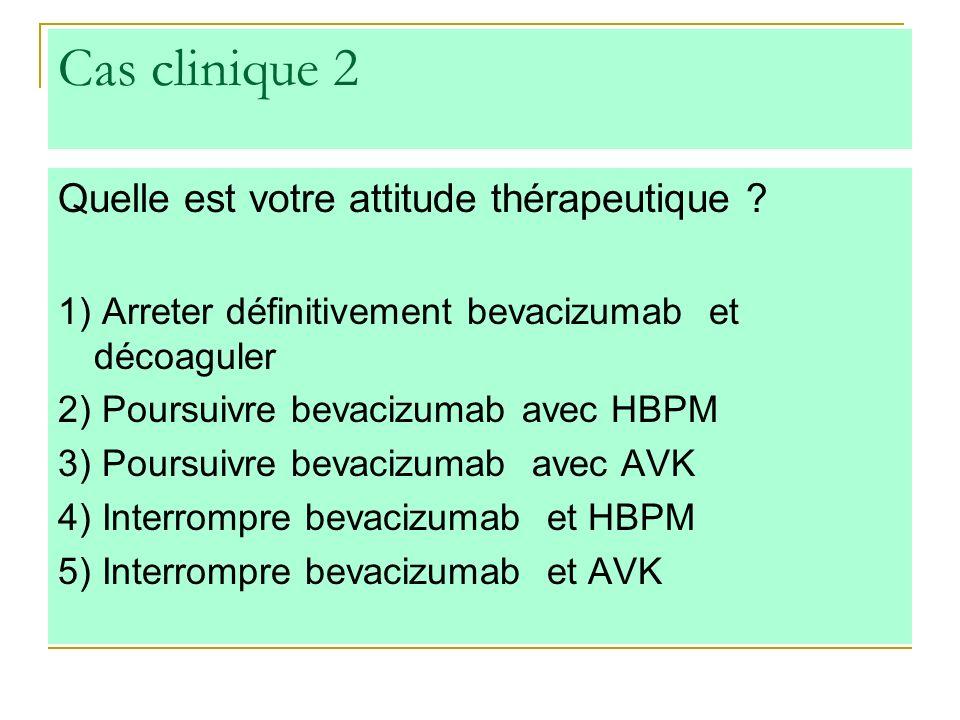 Cas clinique 2 Quelle est votre attitude thérapeutique