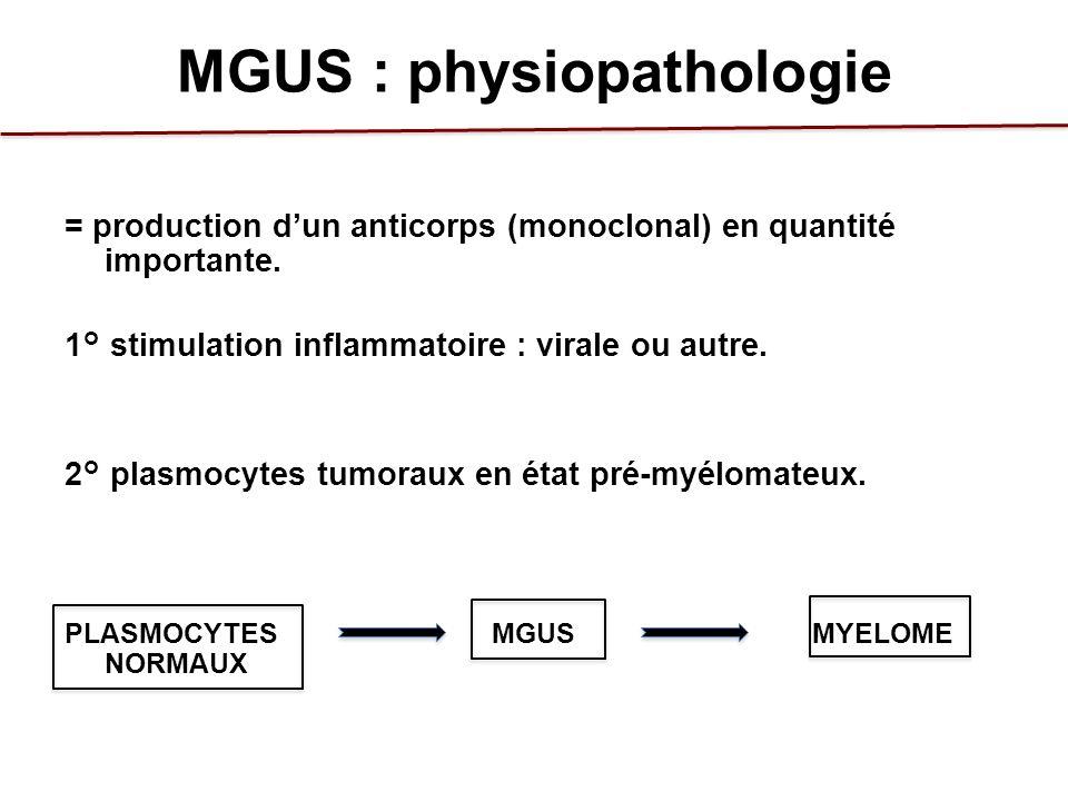 MGUS : physiopathologie