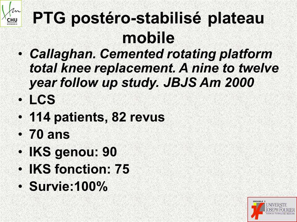 PTG postéro-stabilisé plateau mobile