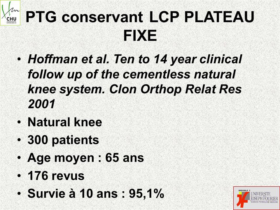 PTG conservant LCP PLATEAU FIXE