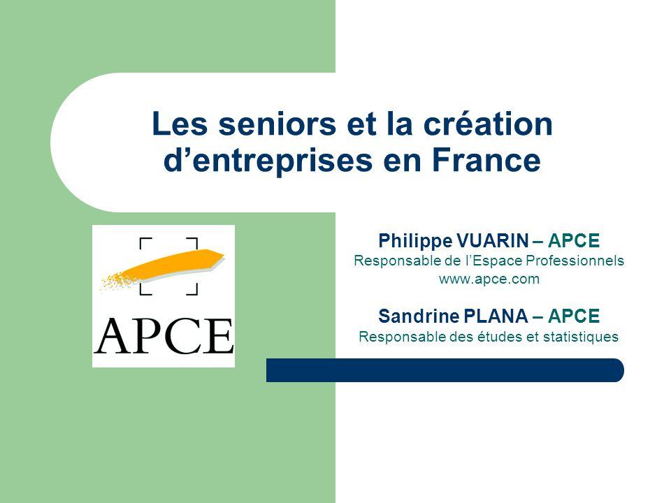 Les seniors et la création d'entreprises en France