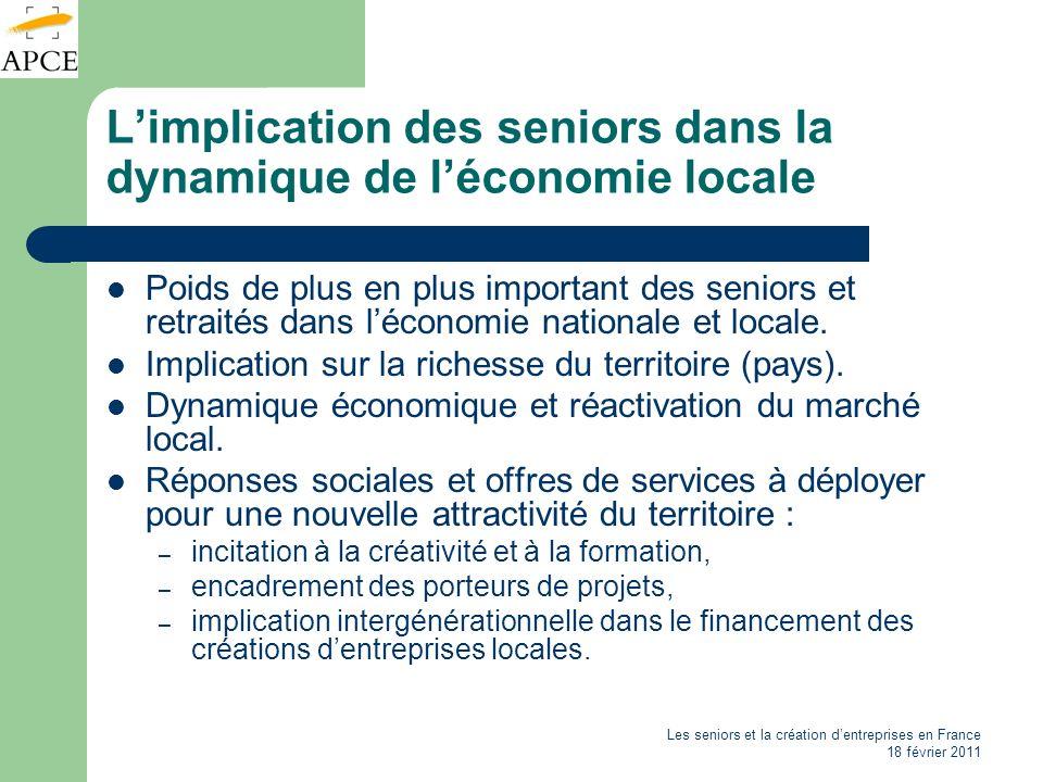 L'implication des seniors dans la dynamique de l'économie locale