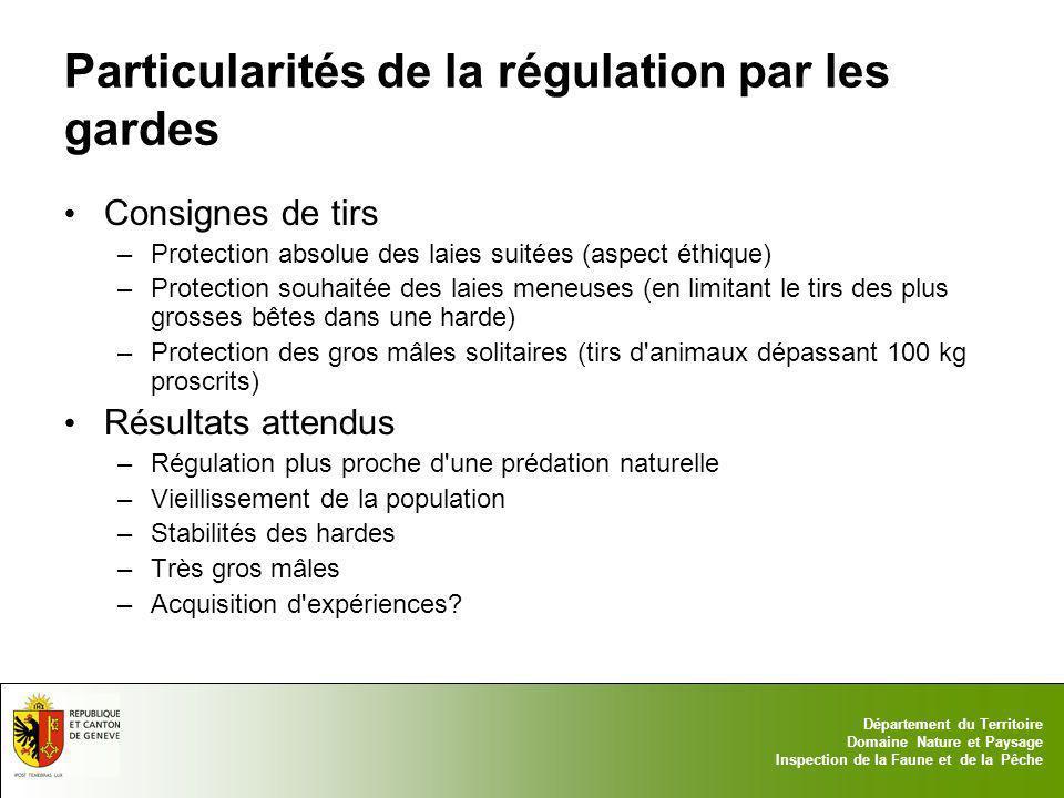 Particularités de la régulation par les gardes