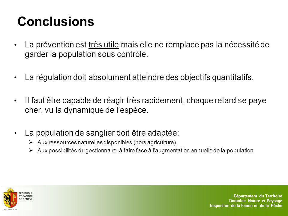 Conclusions La prévention est très utile mais elle ne remplace pas la nécessité de garder la population sous contrôle.