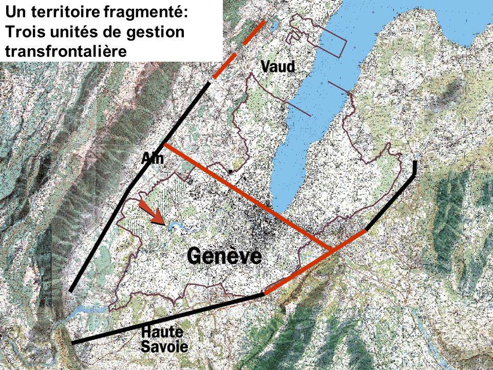 Un territoire fragmenté: Trois unités de gestion transfrontalière