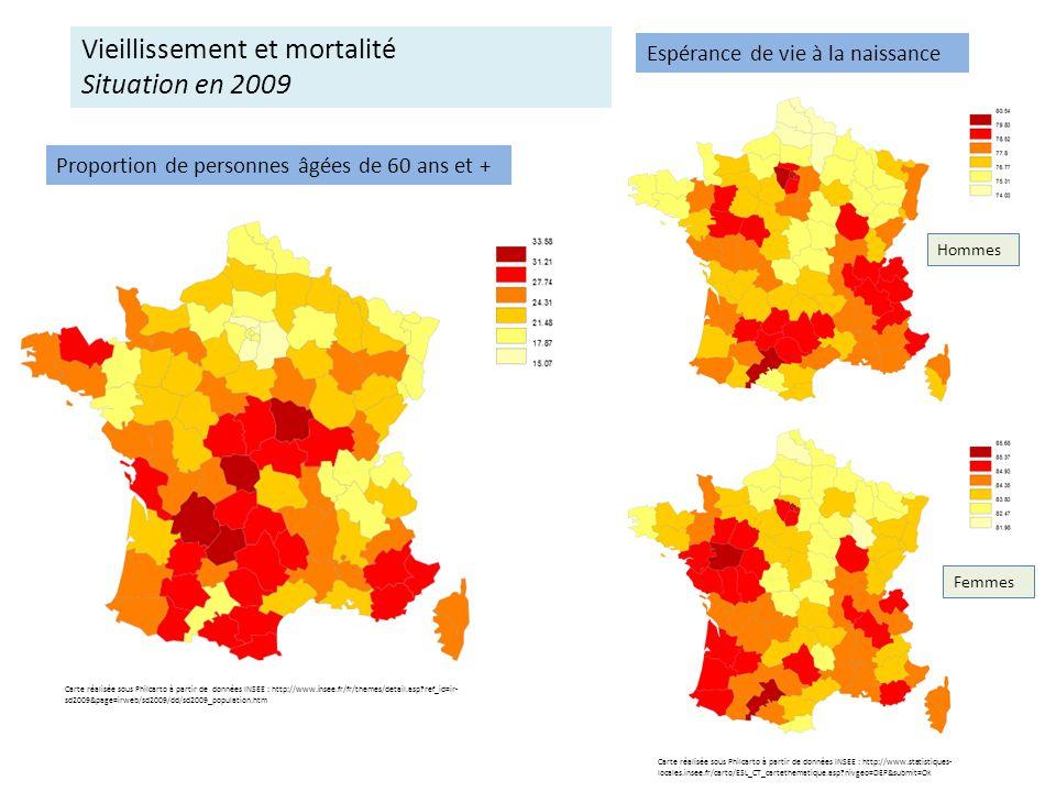 Vieillissement et mortalité Situation en 2009