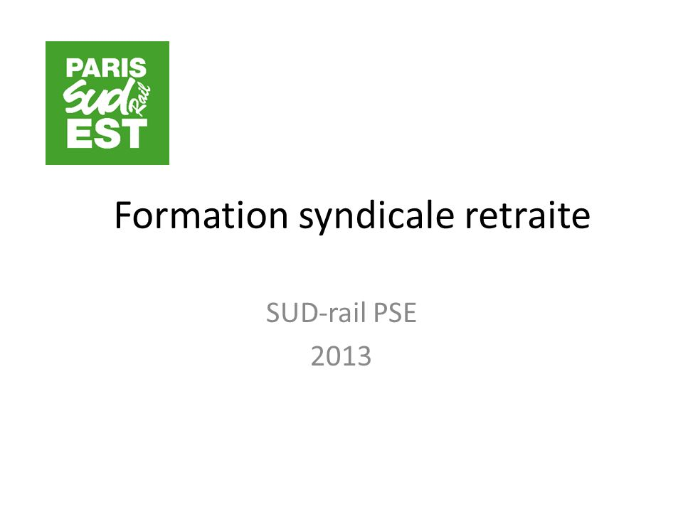 Formation syndicale retraite