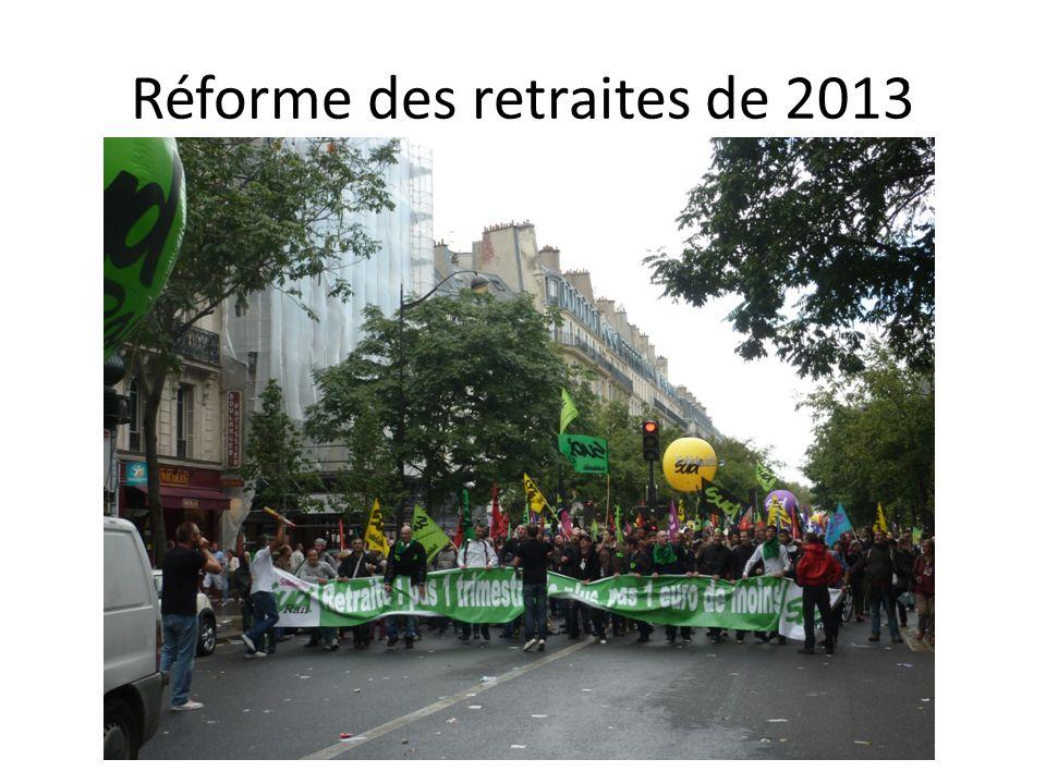 Réforme des retraites de 2013