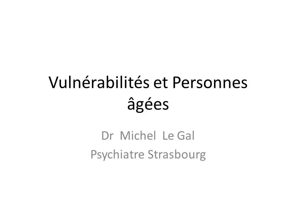 Vulnérabilités et Personnes âgées