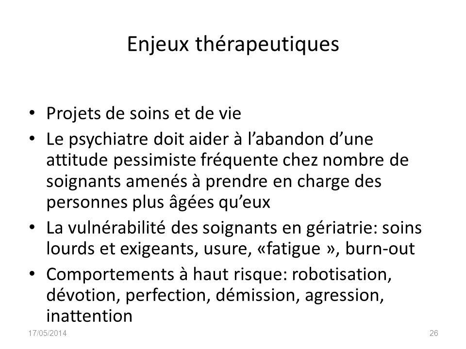 Enjeux thérapeutiques