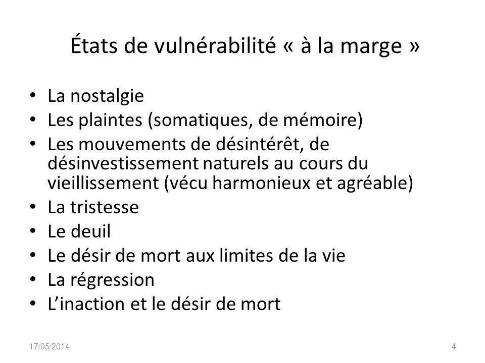États de vulnérabilité « à la marge »