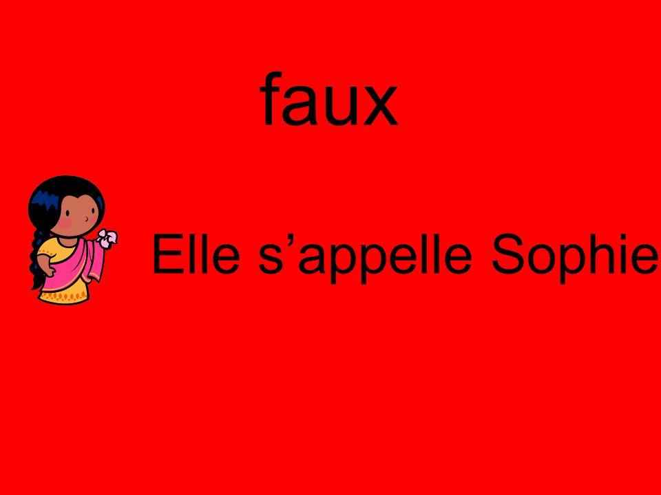 faux Elle s'appelle Sophie