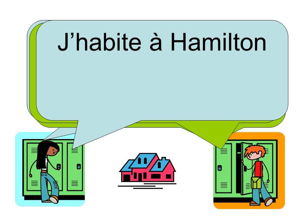 Où tu habites J'habite à Hamilton Et toi Tu habites où J'habite à Matamata