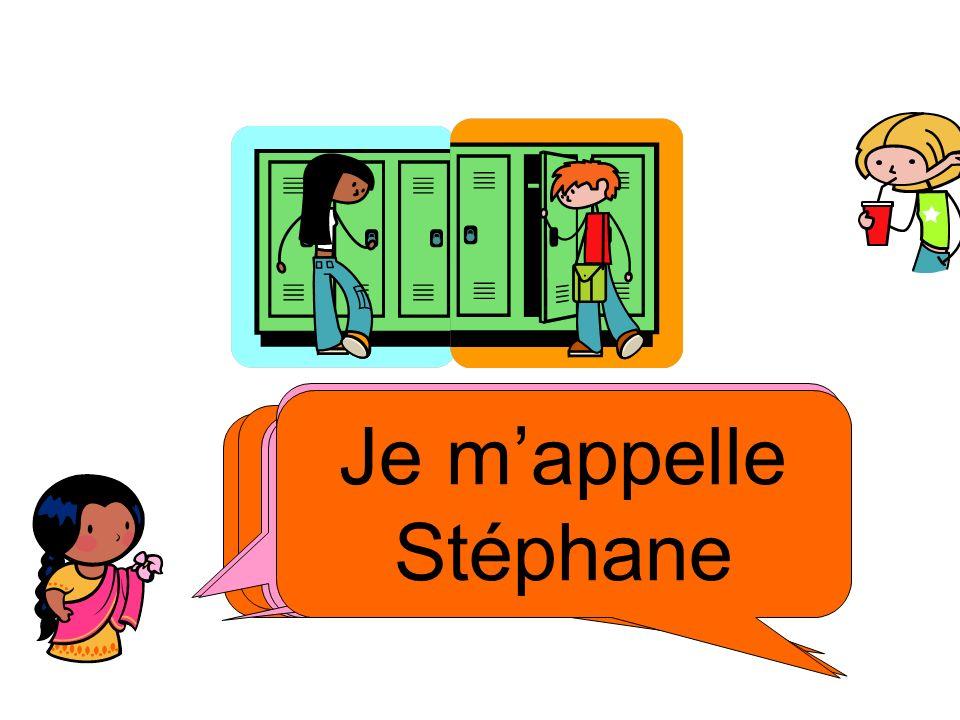 tu t'appelles comment Je m'appelle Stéphane. Comment t'appelles tu Salut ! Je m'appelle Sophie.