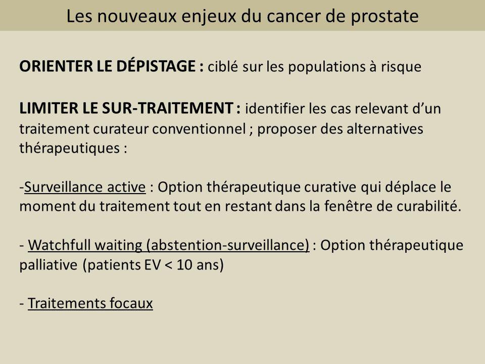 Les nouveaux enjeux du cancer de prostate