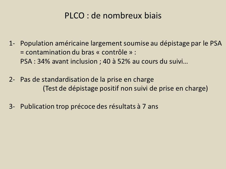 PLCO : de nombreux biais