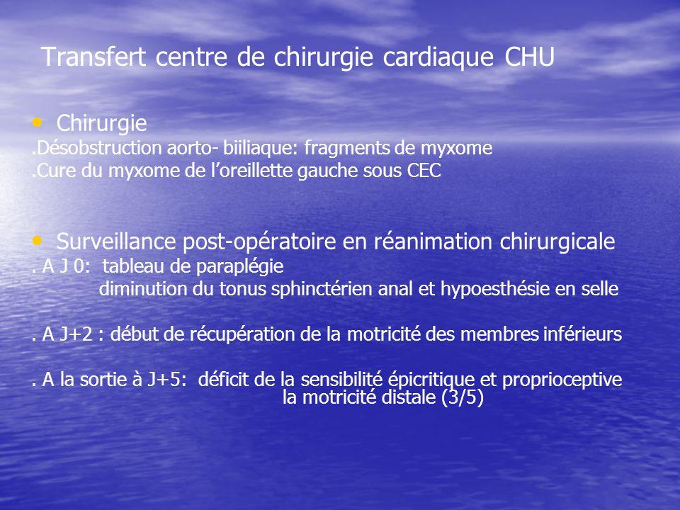 Transfert centre de chirurgie cardiaque CHU