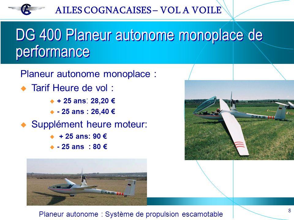 DG 400 Planeur autonome monoplace de performance