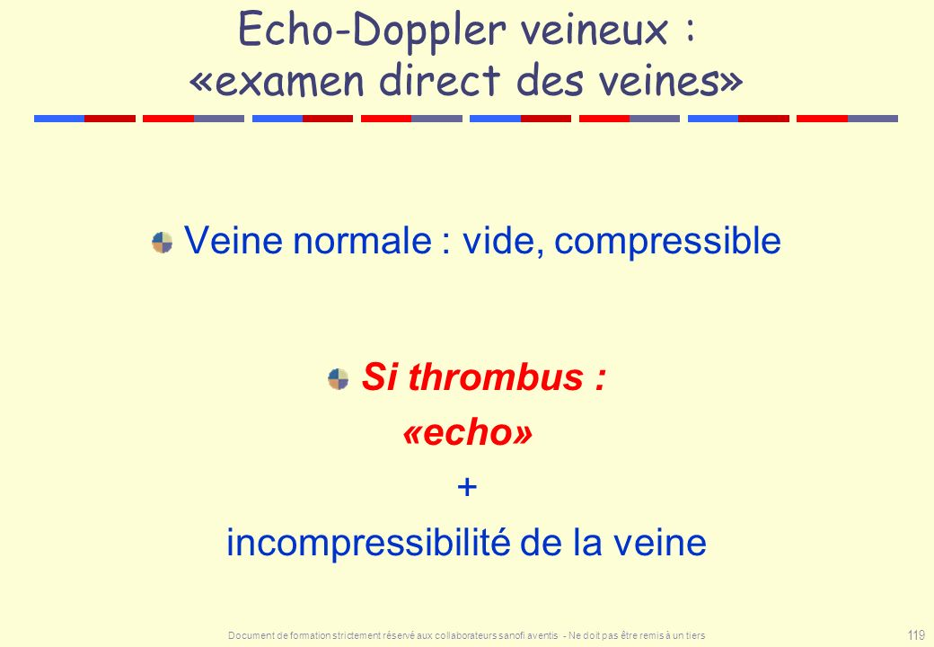 Echo-Doppler veineux : «examen direct des veines»