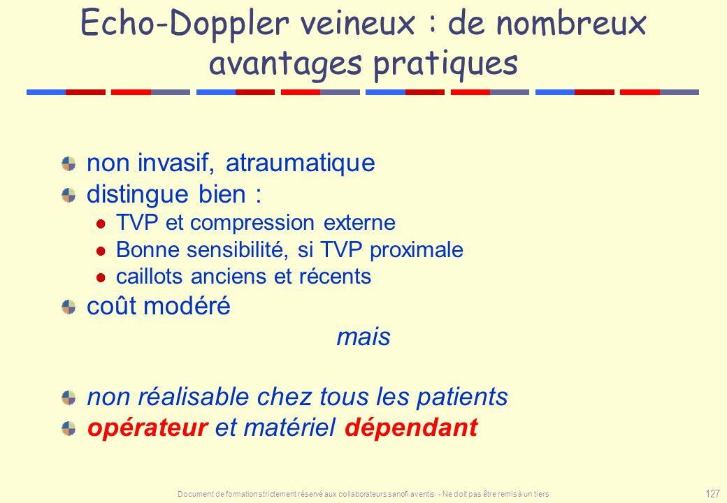 Echo-Doppler veineux : de nombreux avantages pratiques