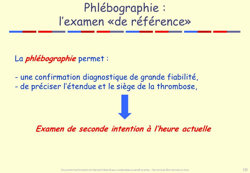 Phlébographie : l'examen «de référence»