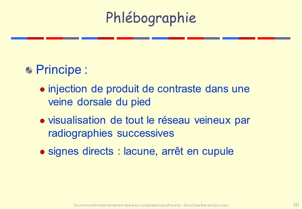 Phlébographie Principe :