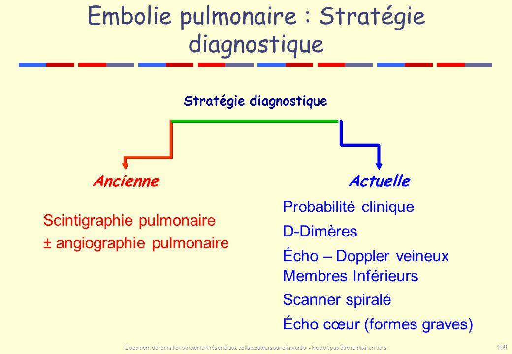 Embolie pulmonaire : Stratégie diagnostique