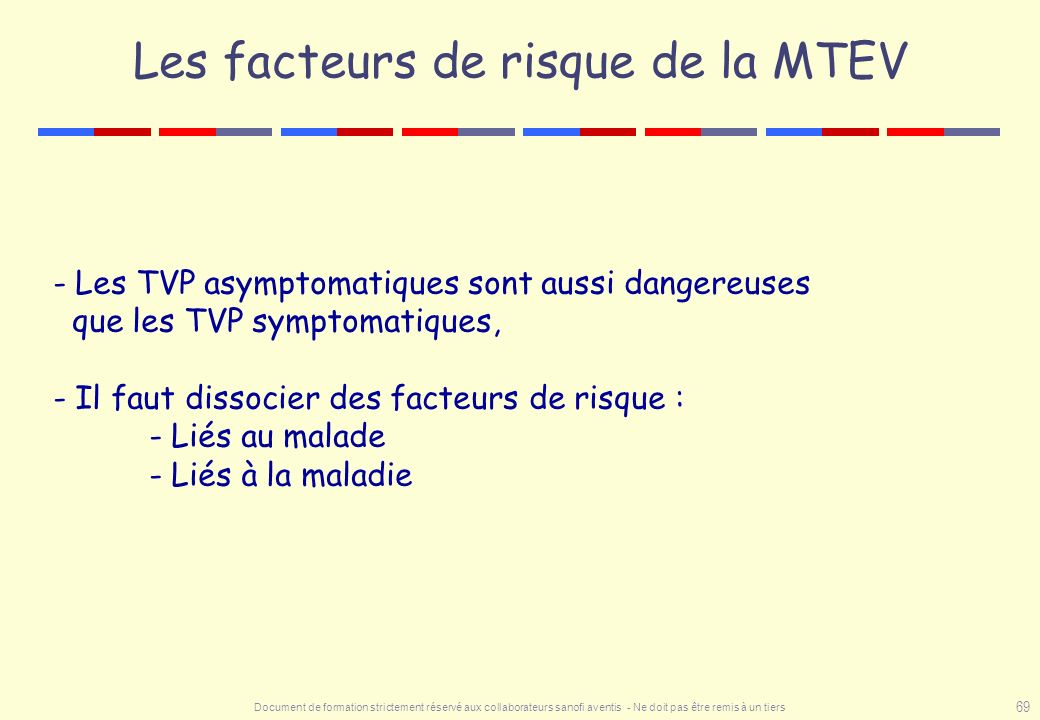 Les facteurs de risque de la MTEV