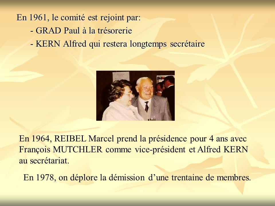 En 1961, le comité est rejoint par: