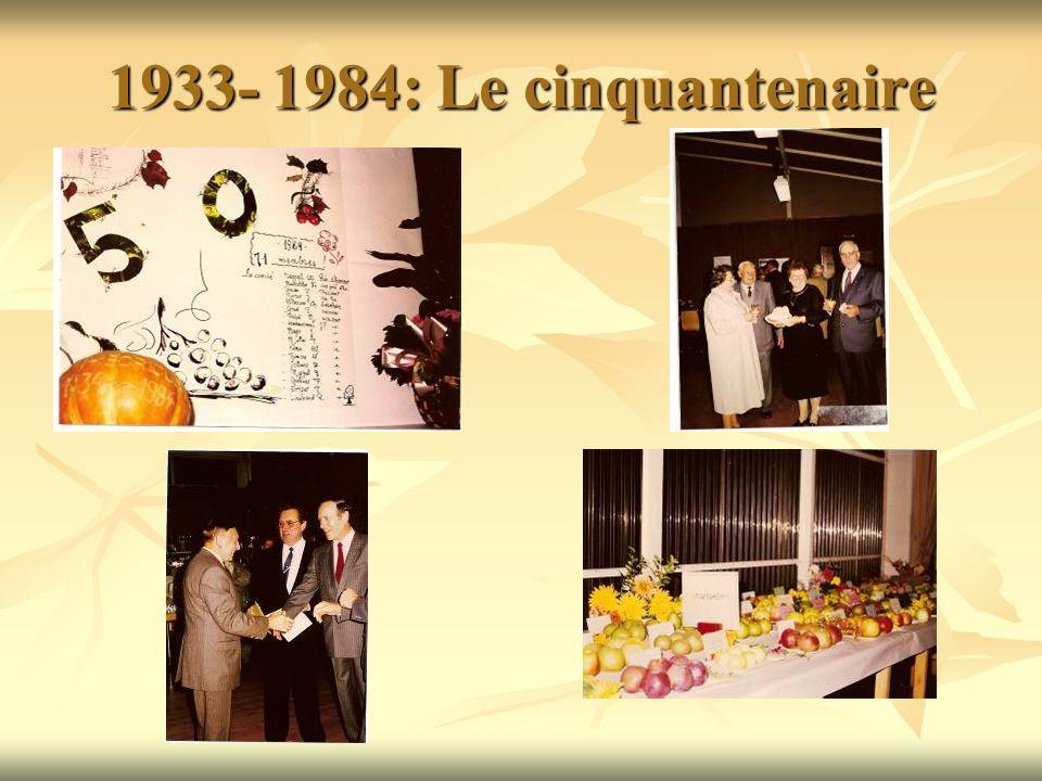 1933- 1984: Le cinquantenaire