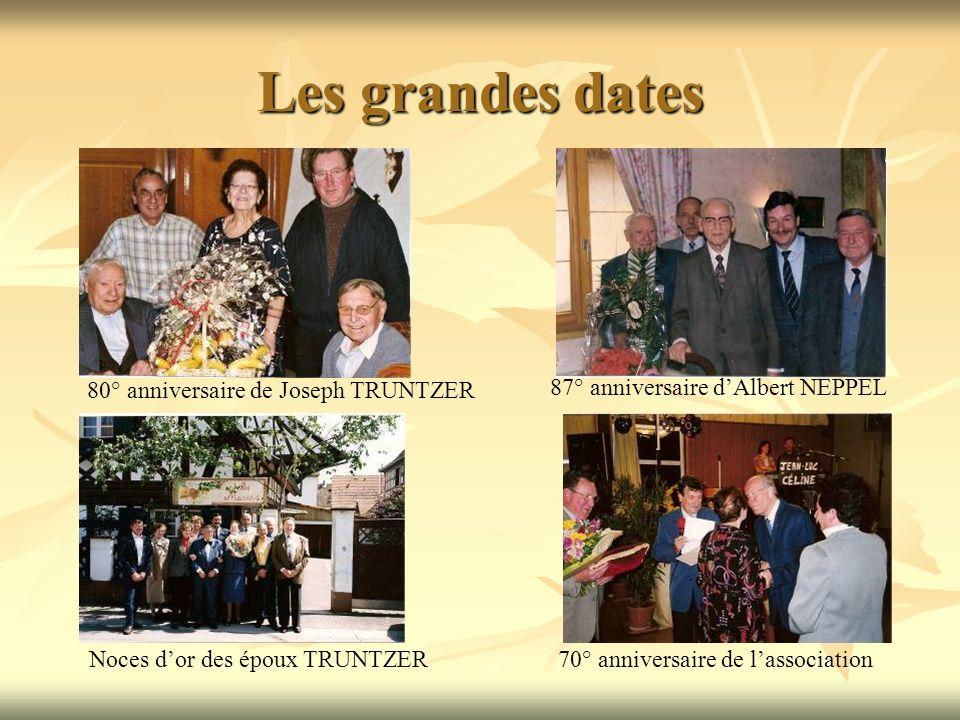Les grandes dates 80° anniversaire de Joseph TRUNTZER