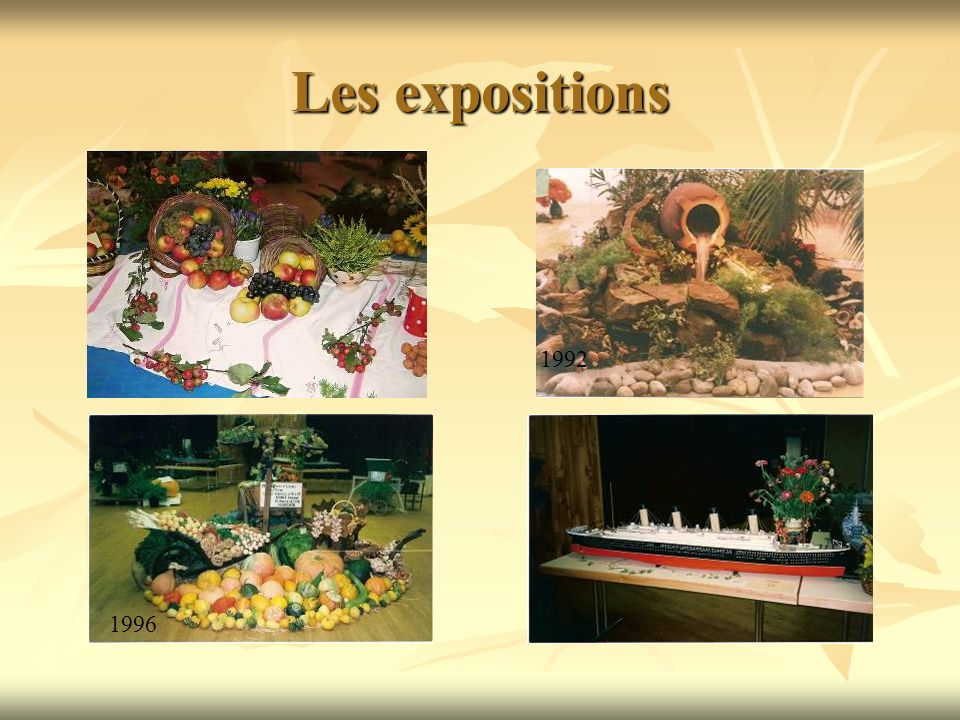 Les expositions 1992 1987 2002 1996