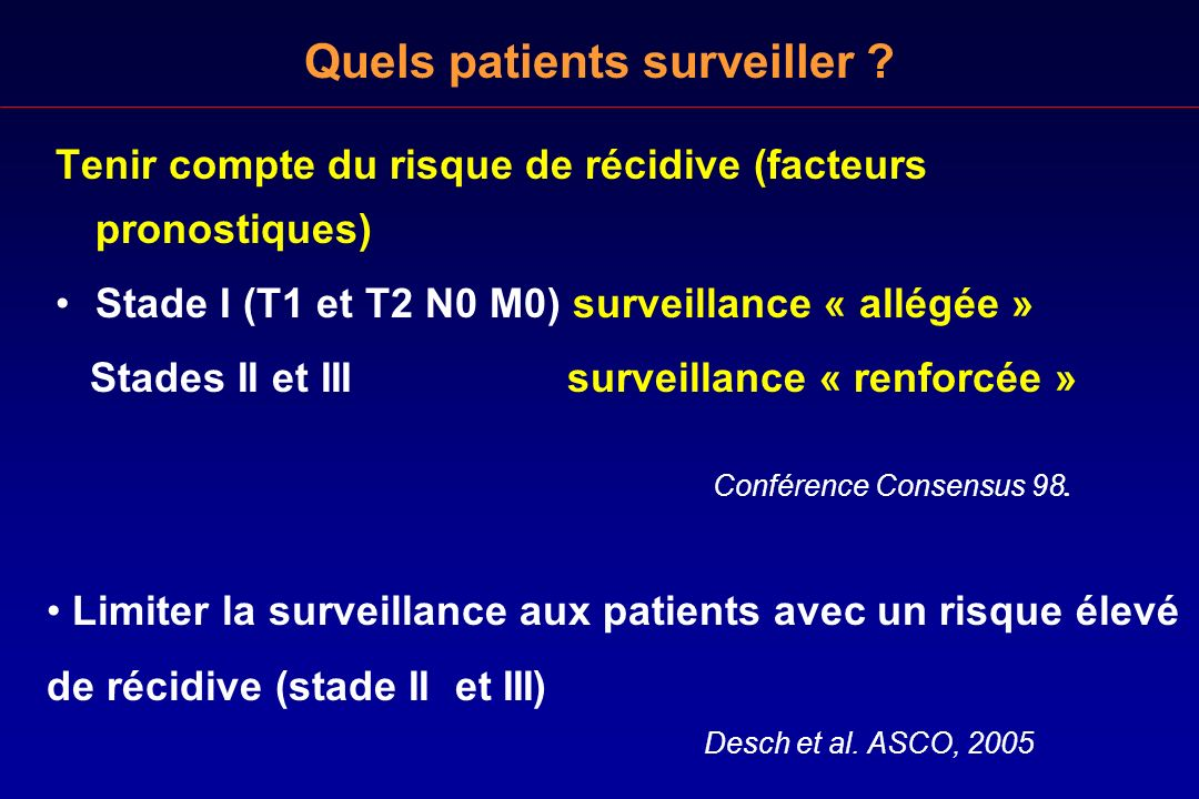 Quels patients surveiller